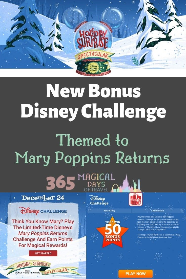 Play The New Bonus Disney Challenge Themed To Mary Poppins Returns