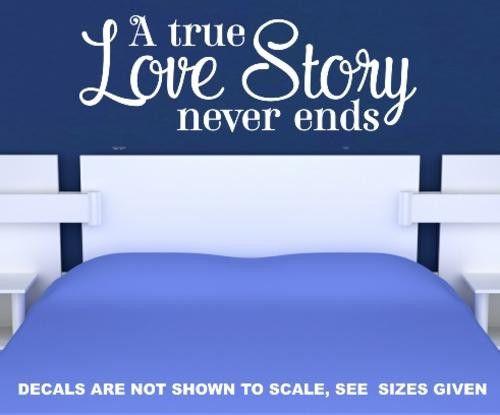 LOVE STORY ROMANTIC QUOTE 9 WALL ART STICKER XLRG VINYL DECAL