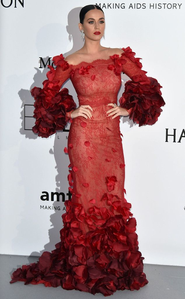 Katy Perry from Cannes Film Festival 2016: Star Sightings The singer stuns in red at amfAR's Cinema Against AIDS gala.