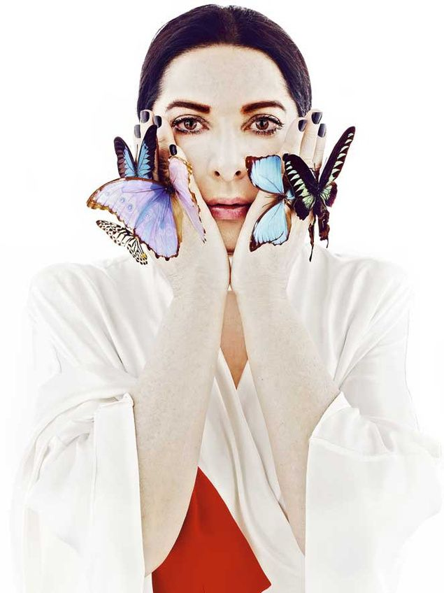 Marina Abramovic. Such a wonderful woman, inspires me to be comfortable with myself!