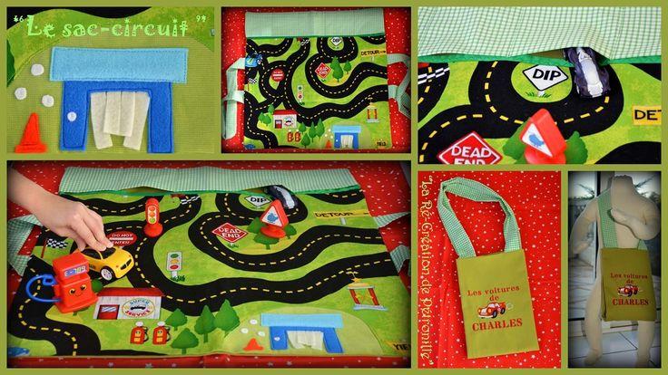 """Le """"sac-circuit"""" nomade à petites voitures -"""