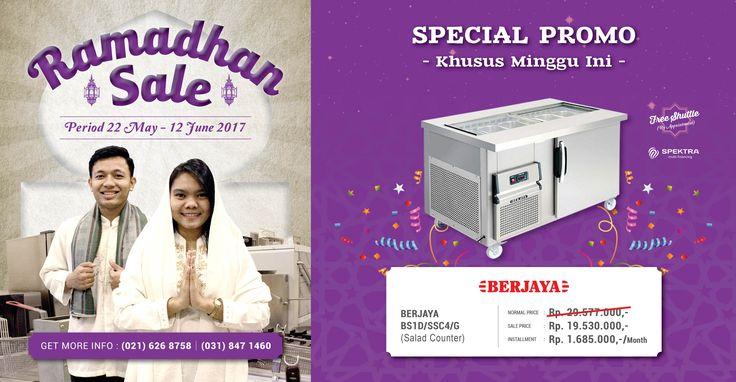Spesial promo khusus minggu ini untuk Berjaya Salad Counter, jangan sampai kelewatan ya! #ramadhansale #berjaya