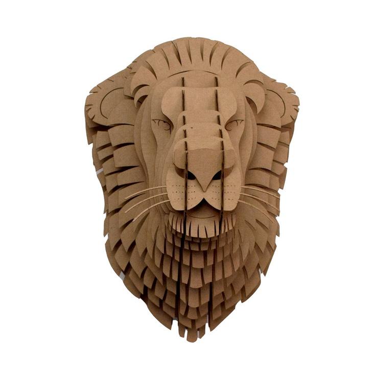 Leon Lion Trophy Head by Cardboard Safari