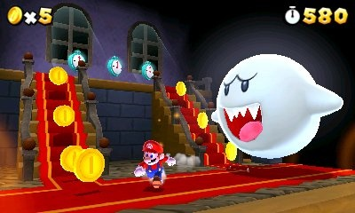 MARIO: Shhh... I think i'm being followed. AHH!!! A Boo!! RUN FOR YOUR LIFE!!!
