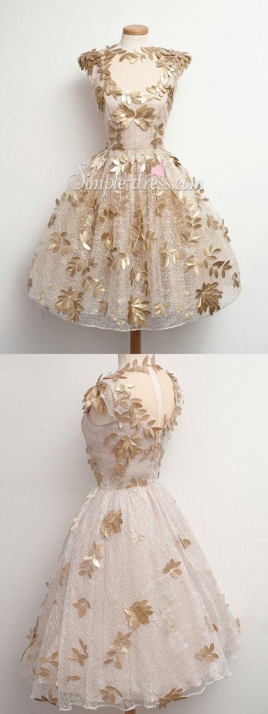 2016 homecoming dress, short homecoming dress, vintage homecoming dress, lace…