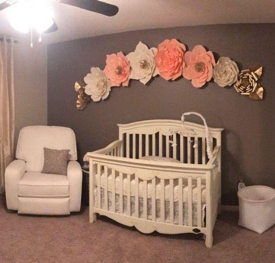 Mejores 15 im genes de flores de papel para decoraci n de - Papel habitacion bebe ...