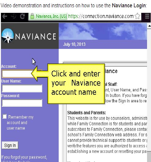 Access the Naviance Login area and sign in details here... #Naviance #Login