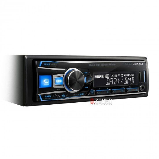 ALPINE UTE-93DAB - Digital media/DAB receiver with advanced Bluetooth The UTE-93DAB combines all the cool features and functions such as opening message customisation, a 3-way crossover, professional sound equalisation and even digital time correction with a high quality DAB/DAB+ receiver featuring DAB-DAB following. Enjoy radio stations in CD quality.