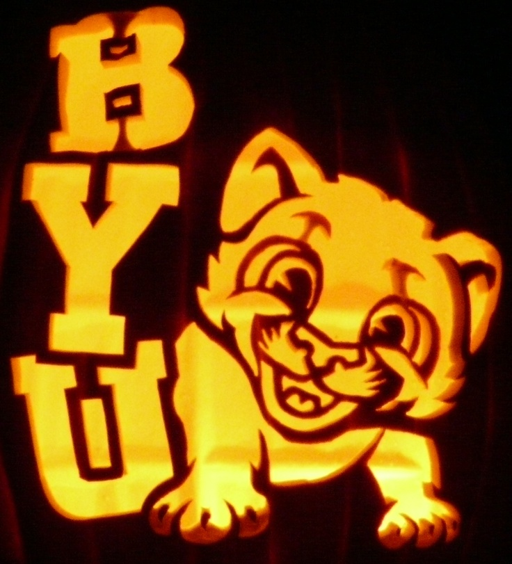 A byu pumpkin carving pinterest brigham young
