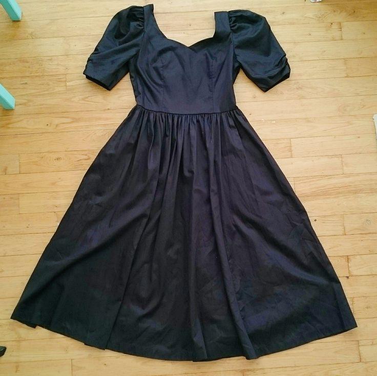 VINTAGE LAURA ASHLEY BLACK OCCASION PRAIRIE DRESS from www.deerandfawn.com