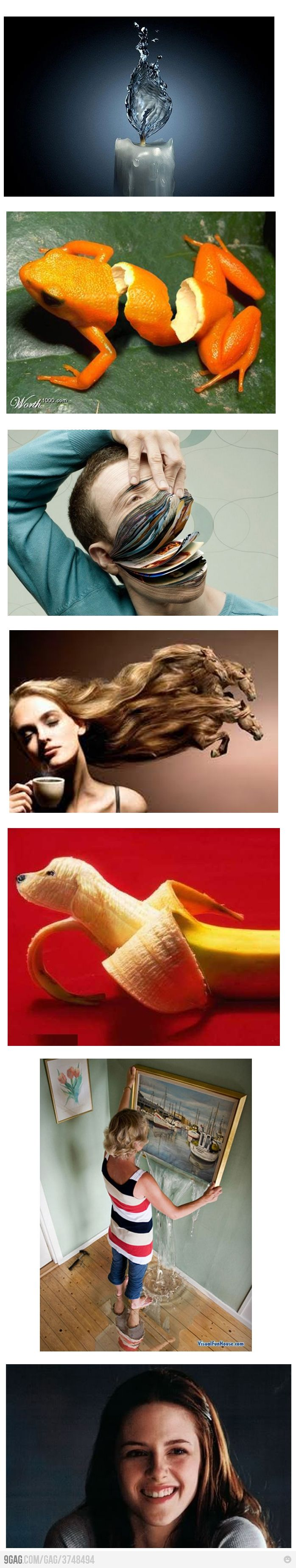 Photoshop inspiration. Makes me wanna get back into photo manipulation challenges.