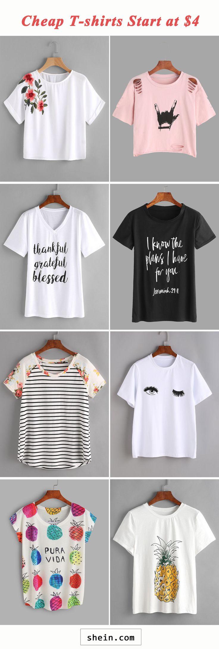 Cheap T-shirts start at $4!