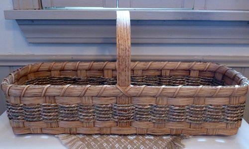 September's Free Basket Weaving Pattern ~ Toiletries Basket