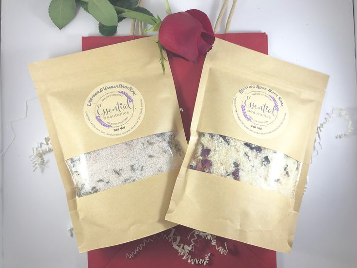 Floral Bath Soak Set is the perfect unwind and Valentines Gift for her.