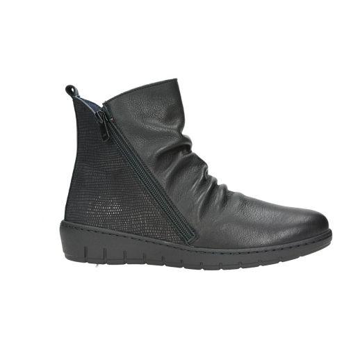 BOTINES NEGROS MUJER PIEL CREMALLERA NOTTON 2922 - Mis Zapatos