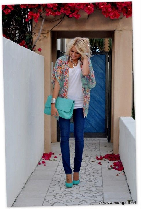 Cute!Fashion, Skinny Jeans, Style, Colors, Cute Outfits, Tiffany Blue, Tiffanyblue, Blue Shoes, Spring Outfit