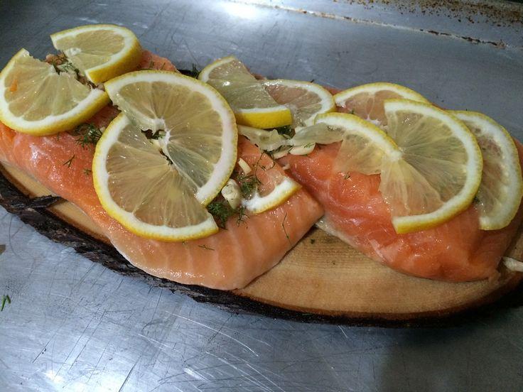 Lemon Dill Salmon - paleo, gluten free, dairy free, easy, cedar plank, fresh lemon
