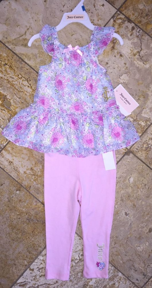 ffbc2e1c6 NWT Juicy Couture Floral Chiffon Top Leggings Outfit 2pc Set Toddler Baby  Girl's | Juicy Couture Girl's SALE! | Pinterest | Floral chiffon, Juicy  couture ...