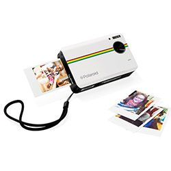 This new 10-megapixel digital camera will be the hit of your next party–it cleverly allows you to view and crop your picture before it prints the classic 2-x-3 Polaroid in less than a minute–no waving-to-dry required.