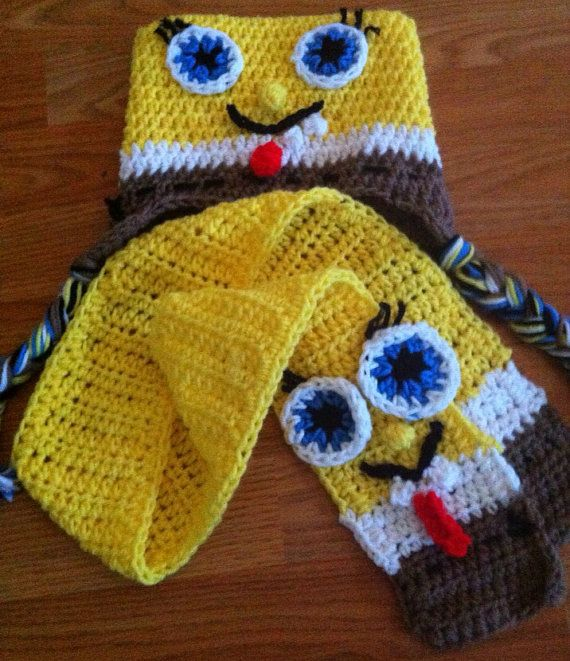 Free Crochet Pattern For Spongebob Hat : 46 best images about Sponge bob and friends on Pinterest ...