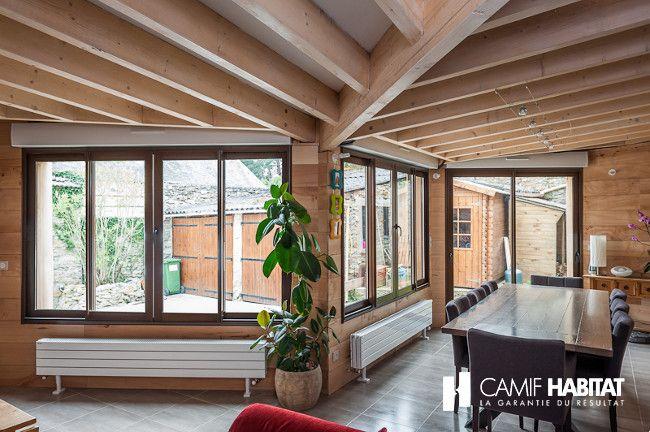 Extension de maison en bois en Iles de France. http://www.camif-habitat.fr/projet-immobilier/travaux-creer-extention-bois.php