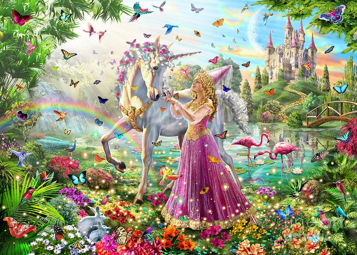 Princess And The Unicorn by Adrian Chesterman