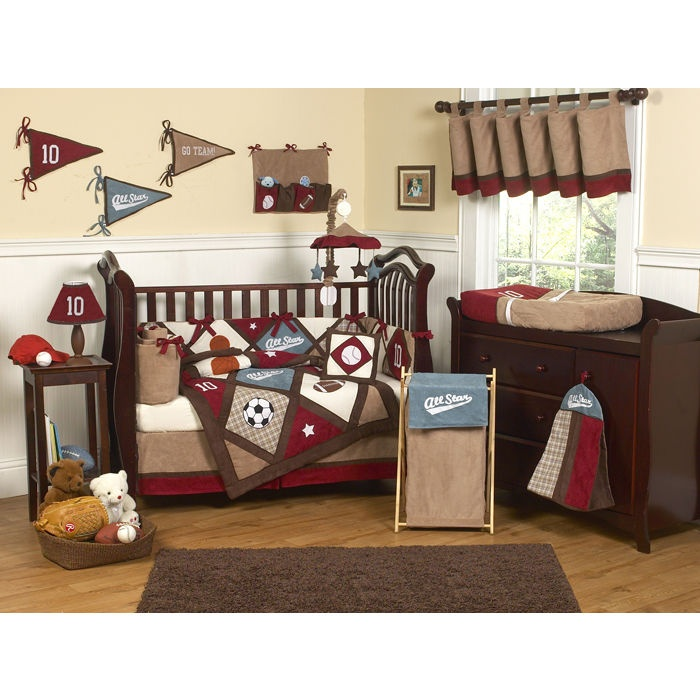 17 best images about baby room ideas on pinterest baby crib bedding baby photos and baby rooms - Baby boy sports room ideas ...