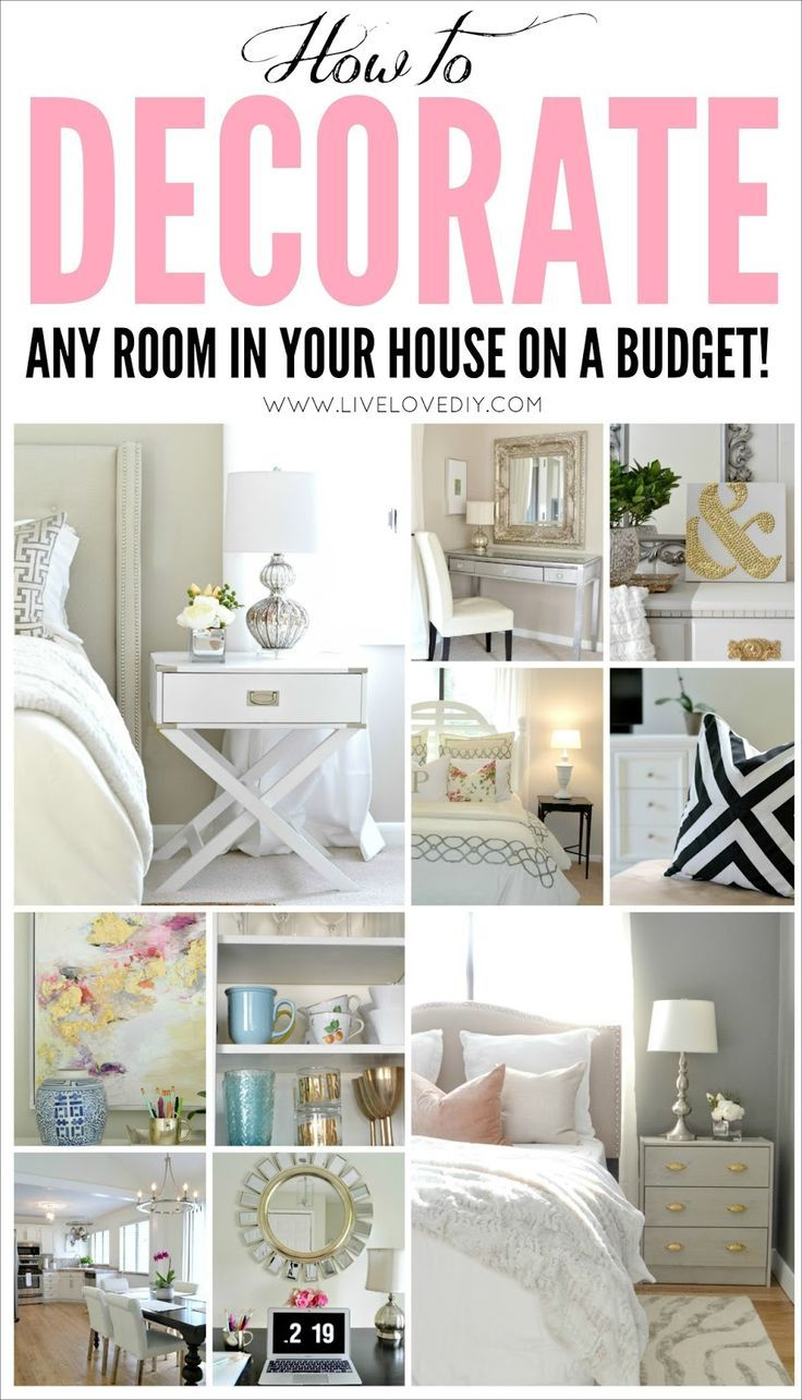 GREAT Resource To Help You Make The MOST Of What You Already Have! Tons Of  DIY And Budget Decorating Ideas For Even The Tiniest Budgets.