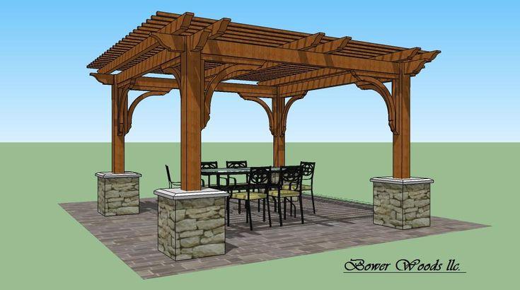 Tuscan design bower woods llc custom garden structures for Cedar pavilion plans