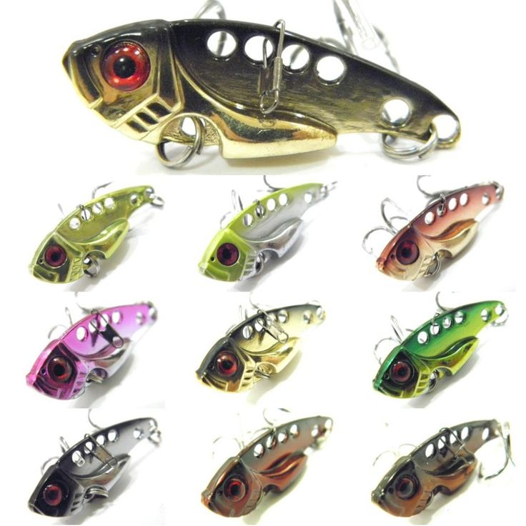 Fishing Lure Blade Lure Metal VIB Hard Bait Fresh Water Shallow Water Bass Walleye Crappie Minnow Fishing Tackle BL3