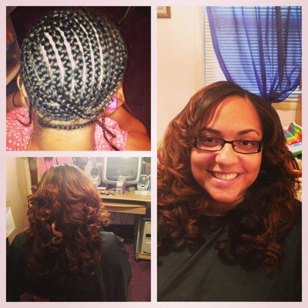 107 best hair weave images on pinterest beautiful braids and hair sew in full weave installation with custom colored hair highlights pmusecretfo Choice Image