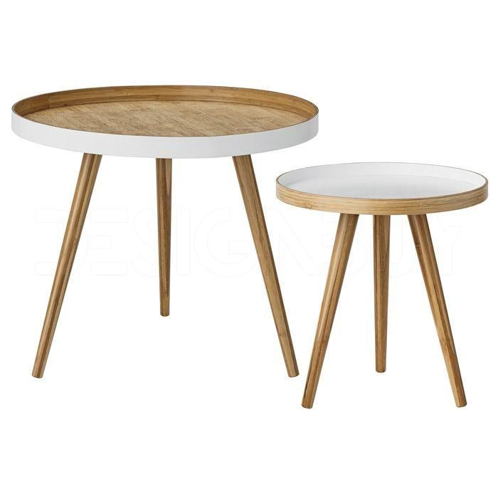 Minimalistický kávový set stolků Cappuccino navrhla dánská značka Bloomingville. Stolky jsou navrženy z bambusového dřeva.