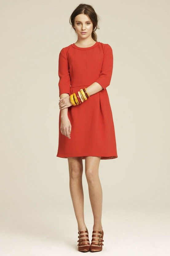 48 best barn wedding attire images on pinterest dress wedding red fall dress would be cute with some tights and boots junglespirit Choice Image