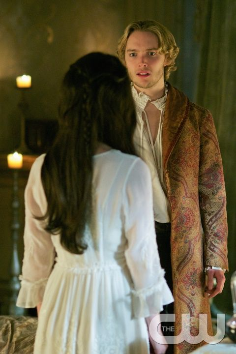 """Reign -- """"Forbidden"""" -- Image Number: RE215a_0456.jpg -- Pictured (L-R): Adelaide Kane as Mary, Queen of Scotland and France (back to camera) and Toby Regbo as King Francis II -- Photo: Sven Frenzel/The CW -- © 2015 The CW Network, LLC. All rights reserved.pn"""