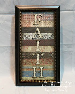 this would be easy to do!: Frames Letters, Big Town, Gifts Ideas, Town Design, Cheap Frames, Scrapbook Paper, Old Frames, Frames Faith, Words Frames