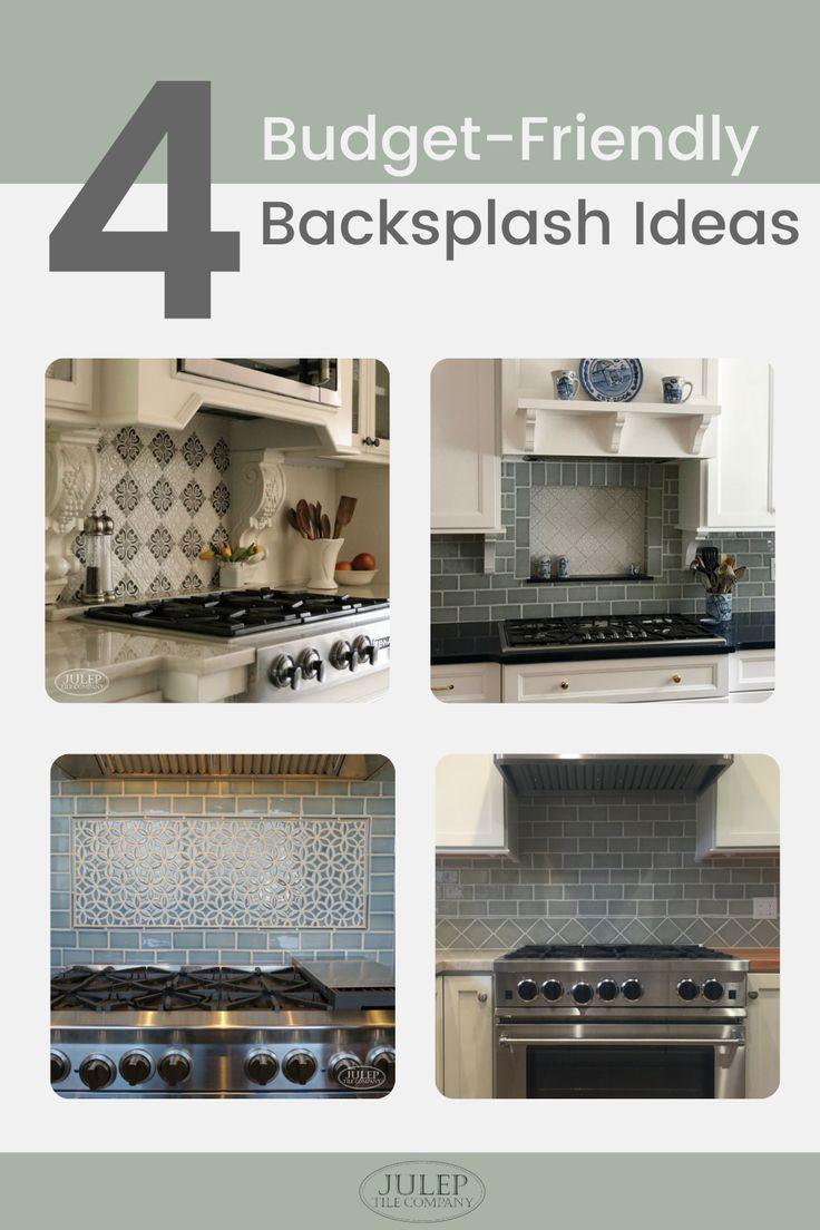 4 Budget Friendly Kitchen Backsplash Ideas Kitchen Backsplash Kitchen Design Gorgeous Kitchens