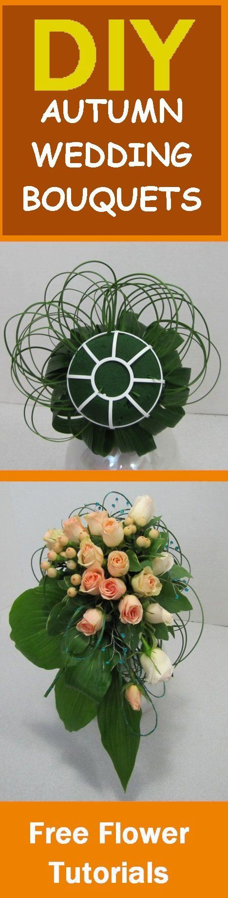 How to Make Wedding Bouquets - Free Flower Tutorials  Learn how to make bridal bouquets, wedding corsages, groom boutonnieres, church decorations and reception centerpieces.  Buy wholesale flowers and discount florist supplies.
