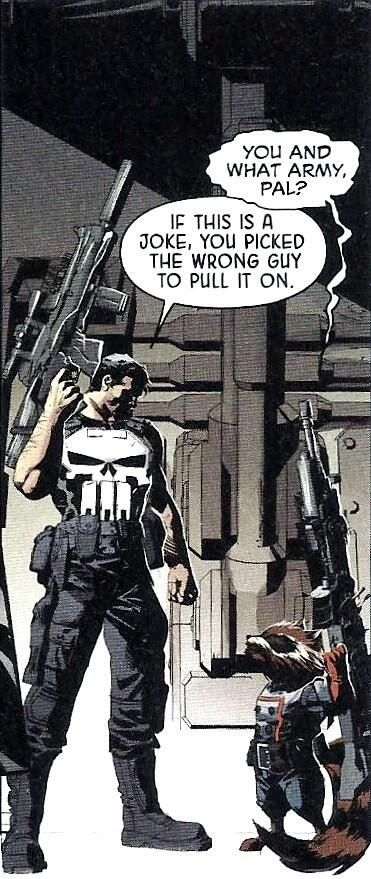 The Punisher and Rocket Raccoon