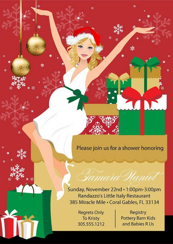 shower party invitation christmas baby shower shower party baby shower