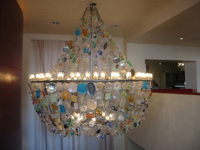 42 best recycled chandelier images on pinterest night lamps koln recycled chandelier by green design girl mozeypictures Image collections