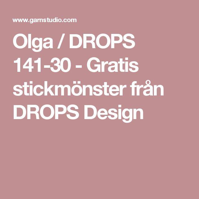 Olga / DROPS 141-30 - Gratis stickmönster från DROPS Design