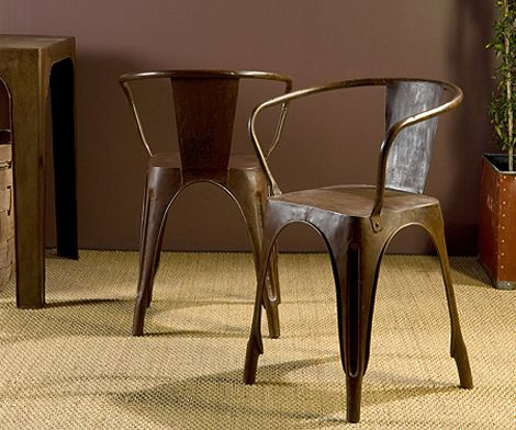 Rusted Metal Bistro Chair at HudsonGoods.com