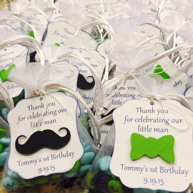 I love what this customer did with her tags. She purchased half mustache tags and half bow tie tags for her little man party and combined them for her favors. They turned out perfect!!