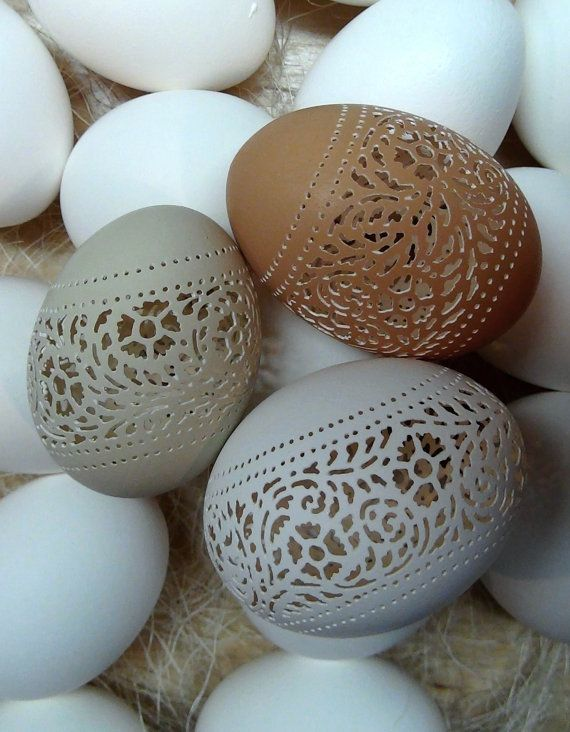 Amazing Hand Carved Easter Eggs