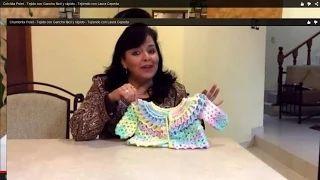 Chambrita Polet - Tejido con Gancho fácil y rápido - Tejiendo con Laura Cepeda - YouTube
