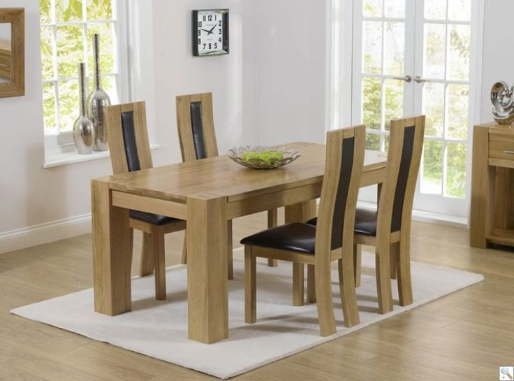 Buy mark harris tampa solid oak dining set with 4 havana brown chairs online by mark harris furniture from cfs uk at unbeatable price