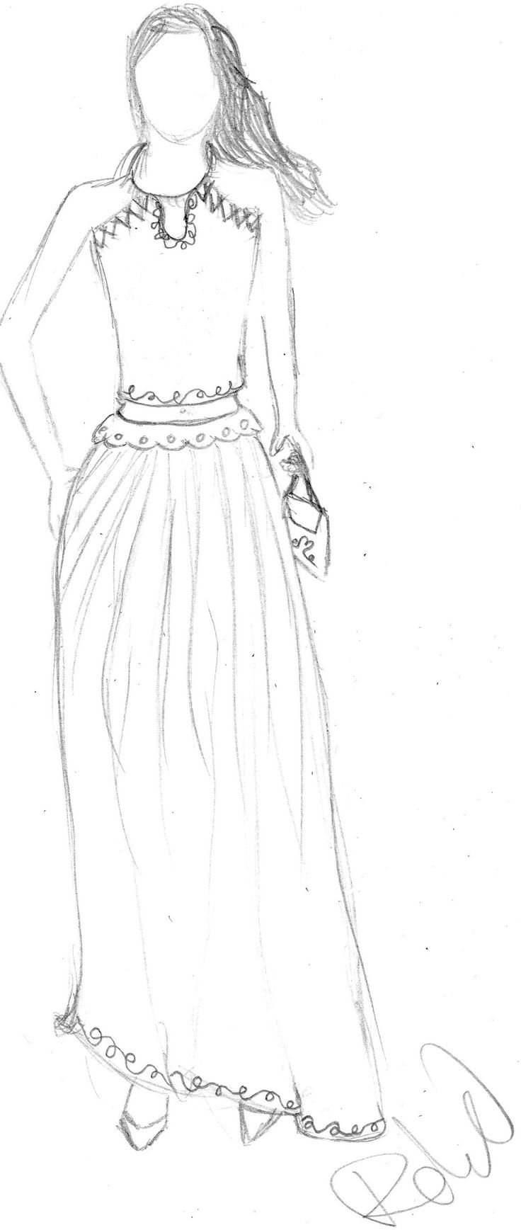my draw! :)  Hungarian dress and top :)  the top is would be black. And the long skirt is got a light color :) https://www.facebook.com/Youtubos/