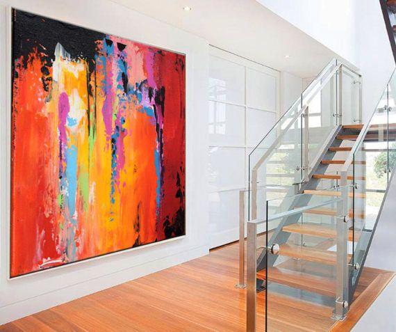 Große abstrakte zeitgenössische Kunst von ModernArtHomeDecor