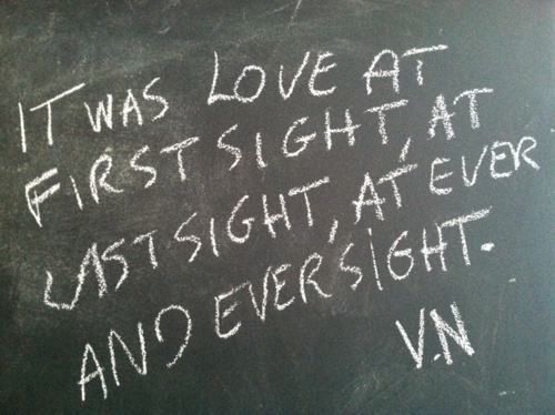 It Was Love At First Sight At Last Sight At Ever And Ever Sight Imir Nabokov