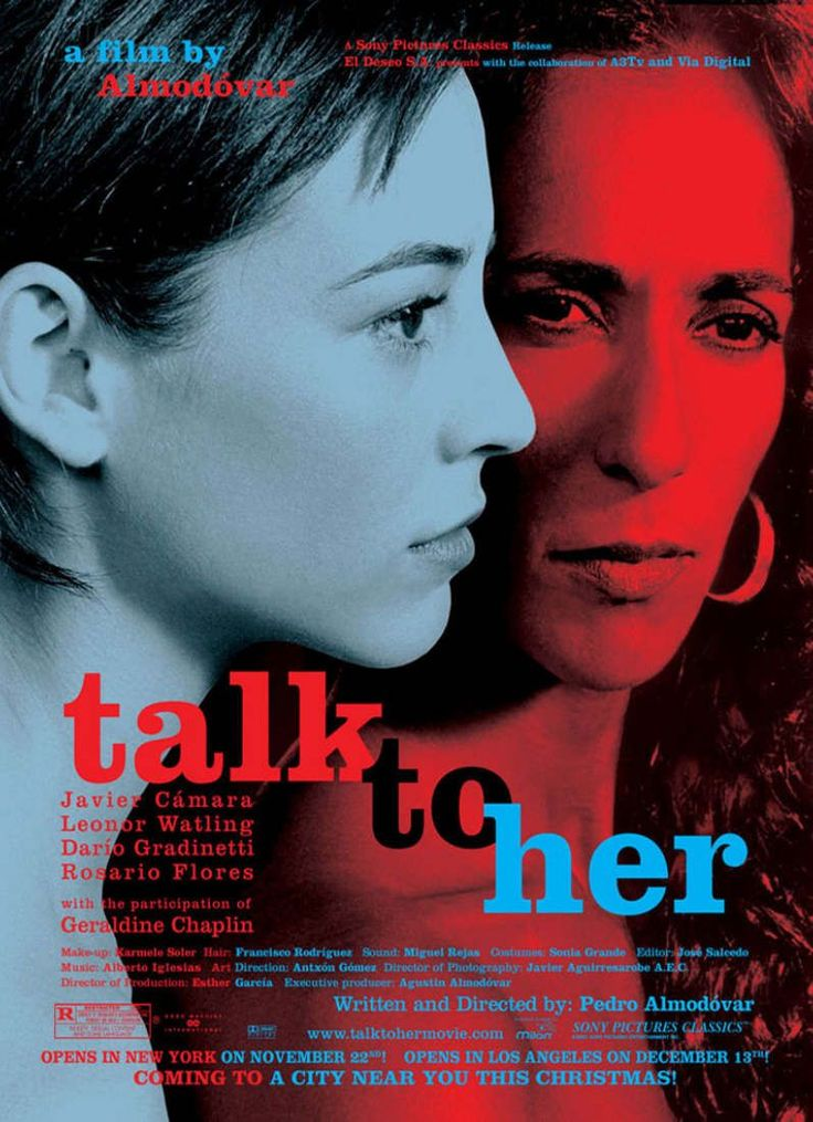 """""""Hable Con Ella"""" era la película que ganó un premio internacional por Almodóvar. Él usó tácticas de combinar algunos elementos de bailas modernas  y películas silencias."""
